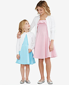 Ralph Lauren Toddler, Little Girls & Big Girls Cable Cardigan, Cotton Poplin Dress & Cotton Fit & Flare Seersucker Dress,