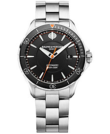 Baume & Mercier Men's Swiss Automatic Clifton Club Stainless Steel Bracelet Watch 42mm M0A10340