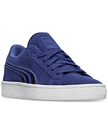 Puma Little Boys' Suede Classic Badge Casual Sneakers from Finish Line