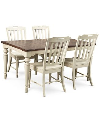 Expandable Furniture barclay expandable dining room furniture, 5-pc. set (dining table
