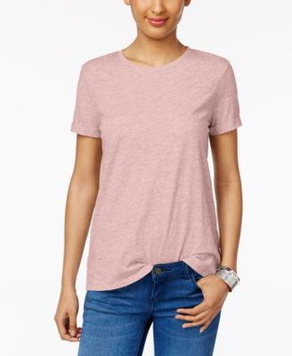Image of Style & Co Rolled-Cuff T-Shirt, Only at Macy's