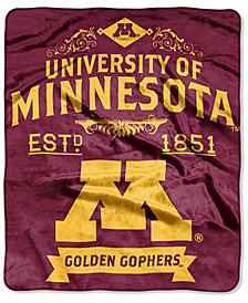 Northwest Company Minnesota Golden Gophers Raschel Rebel Throw Blanket