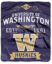 Northwest Company Washington Huskies Raschel Rebel Throw Blanket