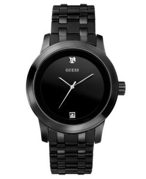Guess Men's Black Ion Plated Stainless Steel Bracelet Watch 38mm U12604G1