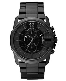 Diesel Mens Chronograph Black Ion Plated Stainless Steel Bracelet Watch 49x45mm DZ4180