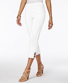 Petite Lattice-Hem Cropped Pants, Created for Macy's