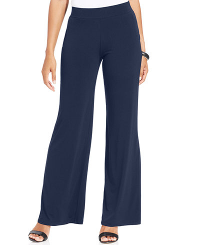 JM Collection Petite Pull-On Wide-Leg Pants, Only at Macy's ...
