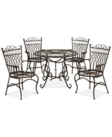 Donovan Outdoor 5-Pc. Dining Set (Dining Table & 4 Chairs)