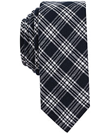 Original Penguin Men's Reale Check Skinny Tie