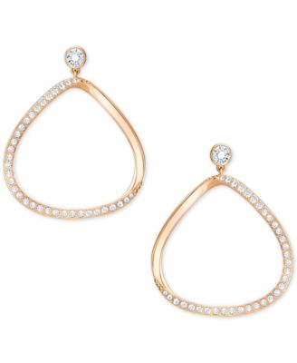 Image of Swarovski Gaya Asymmetrical Pavé Hoop Earrings