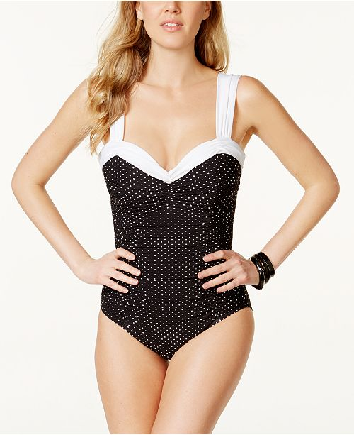 c736ef31823 Miraclesuit Pin Point Saxon Sweetheart One-Piece Swimsuit   Reviews ...