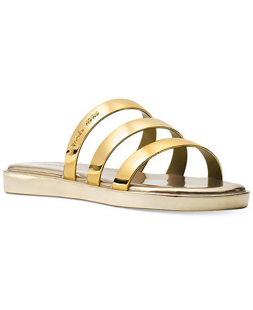 aab8955611a1 Michael Kors Keiko Slide Sandals   Reviews - Sandals   Flip Flops ...