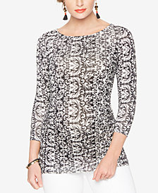 Isabella Oliver Maternity Printed Long-Sleeve Top