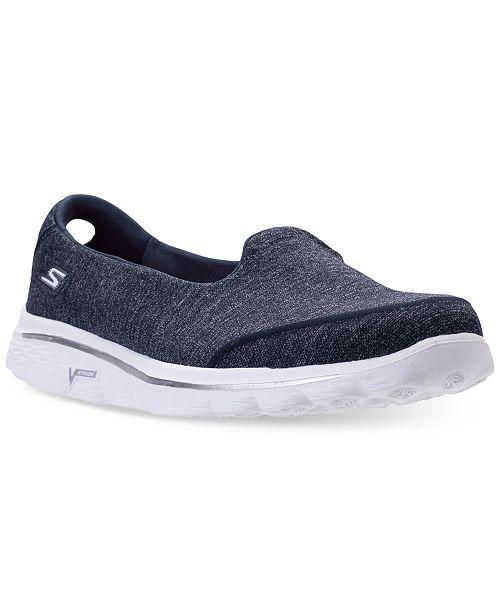 6a2cf32f82e ... Skechers Women s GOwalk 2 Super Sock - Courage Casual Walking Sneakers  from Finish ...