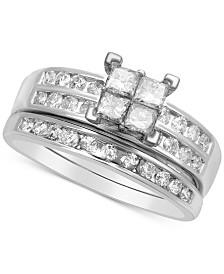 Diamond Quad Bridal Set (1 ct. t.w.) in 14k White Gold