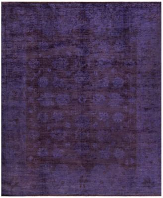 Macyu0027s Fine Rug Gallery One Of A Kind Overdyed Zeigler K570692 Lilac 8u0027