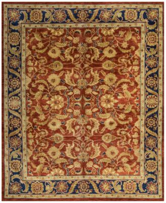 Macyu0027s Fine Rug Gallery One Of A Kind Overdyed Zeigler K424162 Rust 8u0027