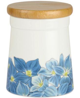 """Botanic Garden Blooms  Hydangea 5.5"""" Storage Jar"""
