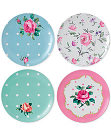 Royal Albert Vintage Mix Picnic Collection 4-Pc. Melamine Salad Plate Set