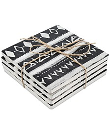 CLOSEOUT! Inverted Tribal 4-Pc. Occasions Coaster Set