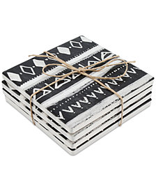 CLOSEOUT! Thirstystone Inverted Tribal 4-Pc. Occasions Coaster Set