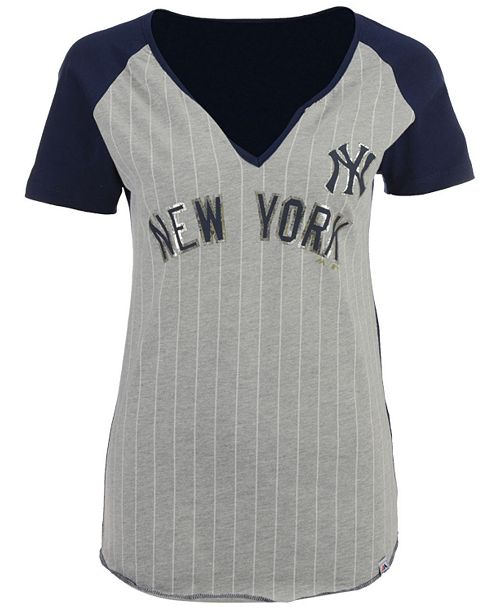 Majestic Women S New York Yankees From The Stretch Pinstripe T Shirt