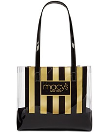 Macy's Stripe & Clear Tote, Created for Macy's
