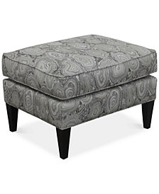 Dial II Printed Accent Ottoman