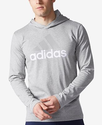 adidas Men's Logo Jersey Hoodie - T-Shirts - Men - Macy's