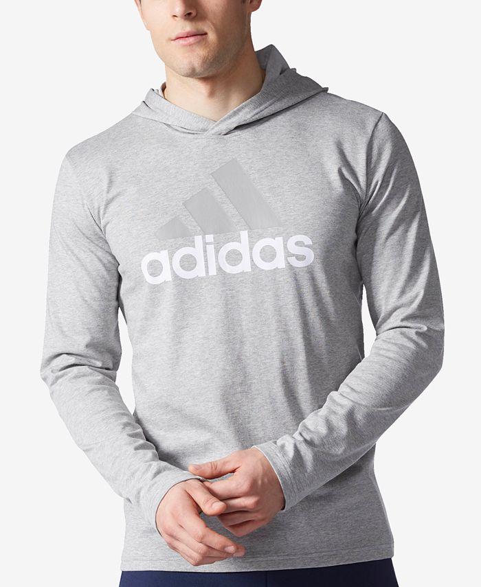 adidas Men's Logo Jersey Hoodie & Reviews - T-Shirts - Men - Macy's