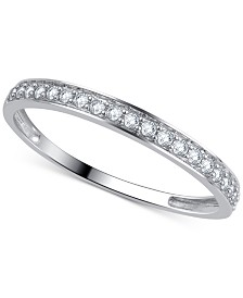 Diamond Wedding Band (1/5 ct. t.w.) Ring in 14k Gold, White Gold or Rose Gold