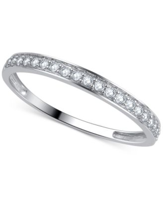 Diamond Wedding Band (1/5 Ct. T.w.) Ring In 14k Gold,