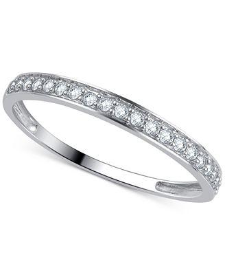 Macy S Diamond Wedding Band 1 5 Ct T W Ring In 14k Gold White
