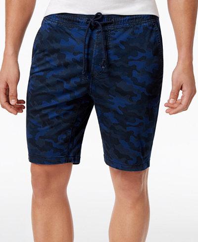 American Rag Men's Stretch Camo Twill Drawstring Jogger Shorts ...