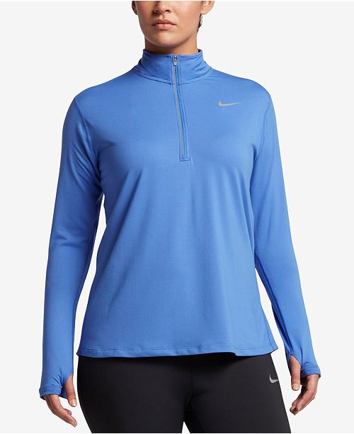 fd759362 Nike Plus Size Element Dri-FIT Half-Zip Top & Reviews - Tops ...