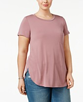 1bbb574003b Celebrity Pink Trendy Plus Size High-Low Tunic