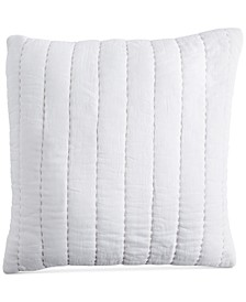 "PURE Quilted Voile 18"" Square Decorative Pillow"