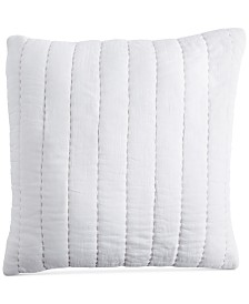 "DKNY PURE Quilted Voile 18"" Square Decorative Pillow"