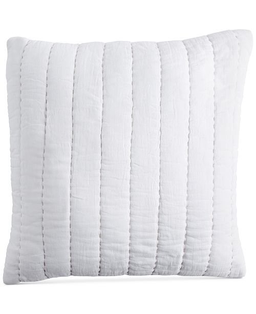 DKNY PURE Quilted Voile 40 Square Decorative Pillow Decorative Enchanting Decorative Quilted Pillows