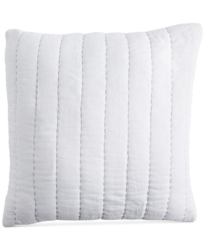 """DKNY - PURE Quilted Voile 18"""" Square Decorative Pillow"""