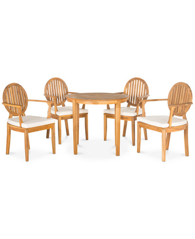 Ellenia Outdoor 5-Pc. Dining Set (Dining Table & 4 Chairs), Quick Ship