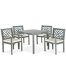 Glendyn Outdoor 5-Pc. Dining Set (1 Dining Table & 4 Chairs), Quick Ship