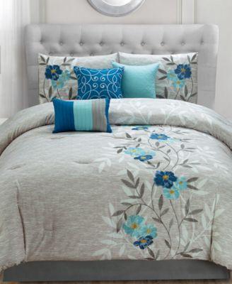 Hallmart Collectibles Krissa 7 Pc Comforter Sets Bed In