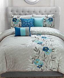 Krissa Embroidered 7-Piece Queen Comforter Set