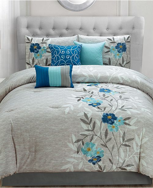 piece comforter california stewart martha dream s king cal p blue set periwinkle