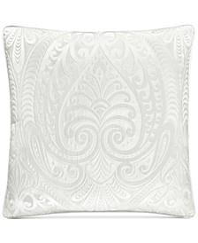 "Bianco Embroidered 18"" Square Decorative Pilllow"