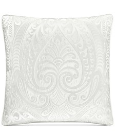 "J Queen New York Bianco Embroidered 18"" Square Decorative Pilllow"