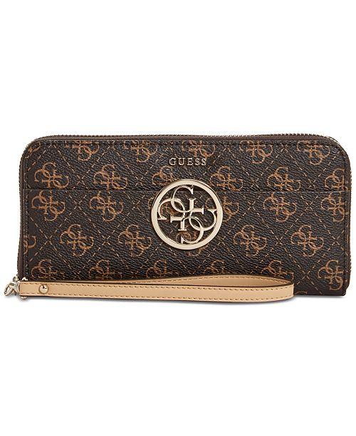 739b1abe68 GUESS Kamryn Zip-Around Signature Wallet   Reviews - Handbags ...
