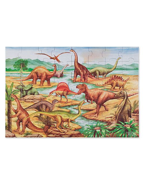 Melissa and Doug Toy, Dinosaurs Floor Puzzle (48 pc) - Dinosaur Toy