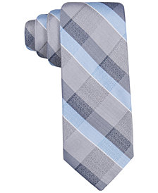 Ryan Seacrest Distinction™ Men's Lakeview Plaid Slim Tie, Created for Macy's